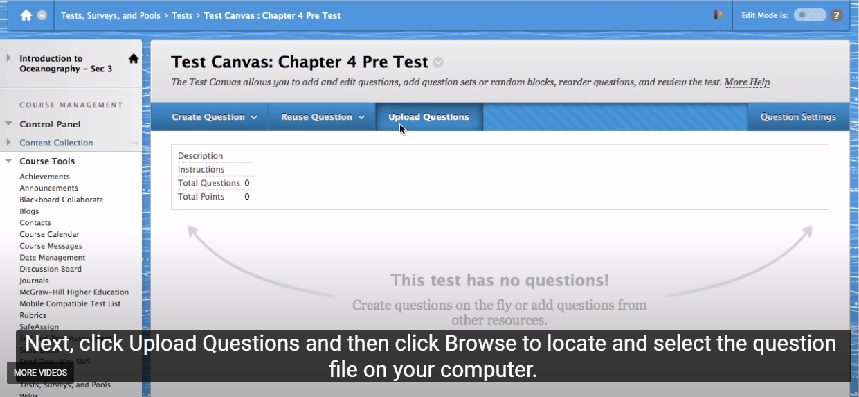 A Faster Way to Get Your Test Questions into Blackboard (finally!)